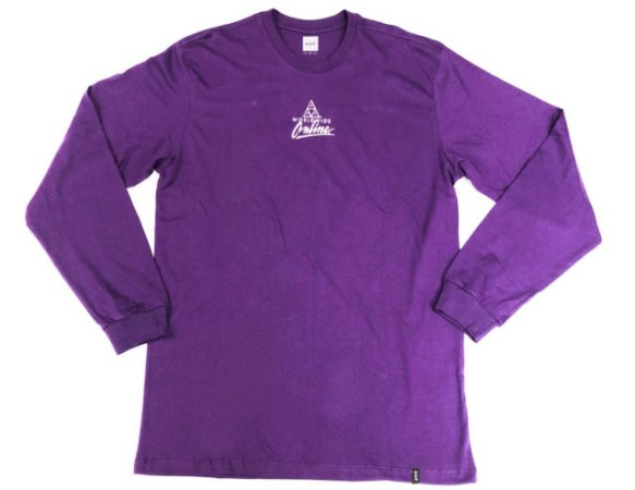 Camisa Huf Manga Longa Forbidden Domain Purple Original