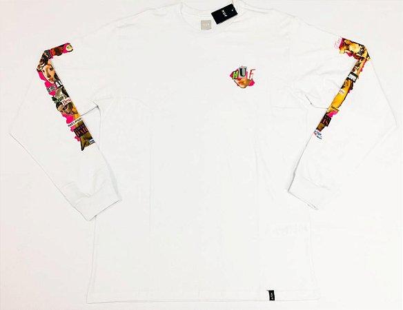Camisa Huf Manga Longa Desire White Original