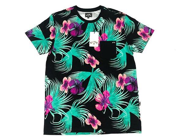 Camiseta Billabong Especial Sundays Com Bolso Original