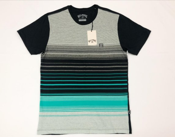 Camiseta Billabong All Day Stripe Especial Original