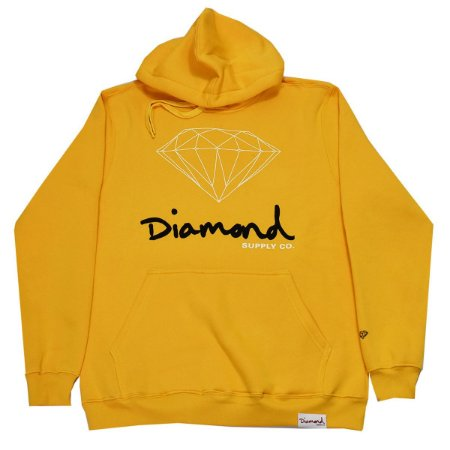 Moletom Diamond OG Sign Hoodie Gold Original