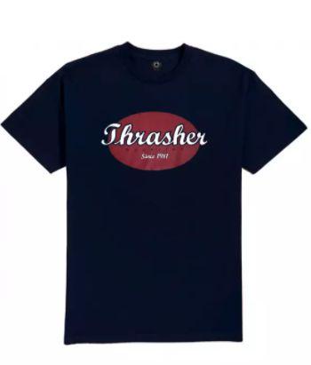 Camisa Thrasher Oval Script Azul