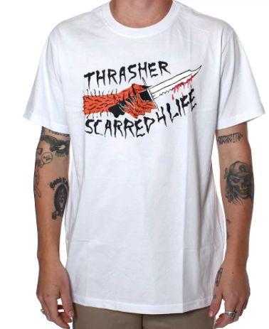 Camiseta Thrasher Scarred4life Branca