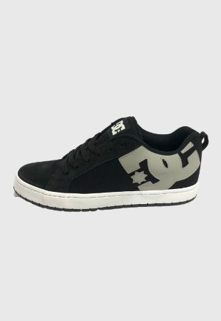 TÊNIS DC SHOES COURT GRAFFIK TX BLACK/GREY/WHITE
