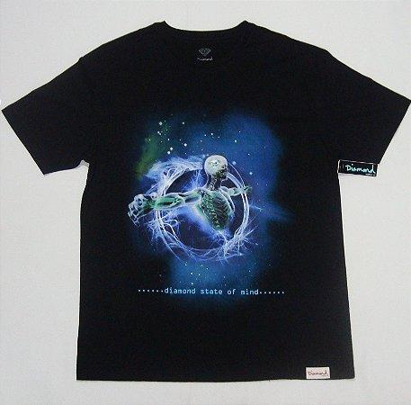 Camiseta Diamond State Of Mind Preta Masculina