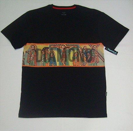 Camiseta Diamond Especial Panel Tee Preta Original Nova Coleção