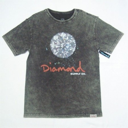 Camiseta Diamond Splash Sign Mineral Wash Tee Original