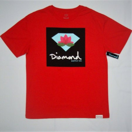 Camiseta Diamond  Lotus Box Sign Red Masculina