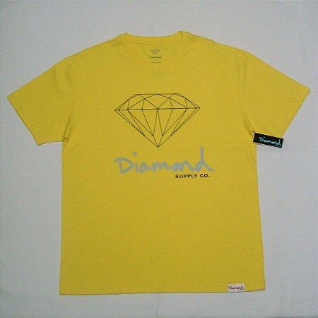 Camiseta Diamond OG Sign Amarela Masculina