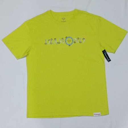 Camiseta Diamond Pendant Safety Green Masculina
