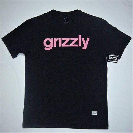 Camiseta Grizzly Lowercase Logo Preta