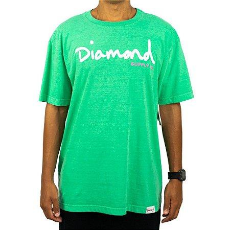 Camiseta Diamond OG SCRIPT Overdye - Verde