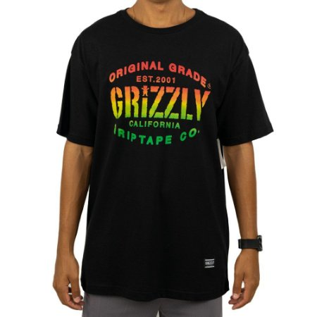 Camiseta Grizzly Grade Preta