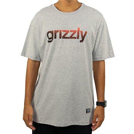 Camiseta Grizzly Lowercase Fadeway Cinza