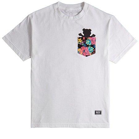 Camiseta Grizzly Muai Pocket Bear Branca