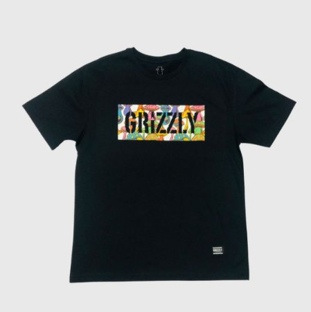 Camiseta Grizzly Fungi Box Preto