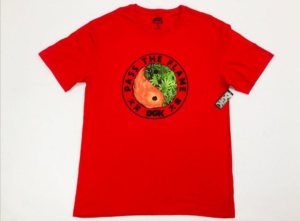 Camisa Dgk Pass The Flame Red Masculina