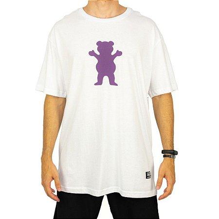 Camiseta Grizzly Og Bear Branca Masculino