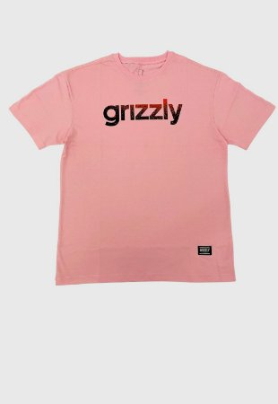 Camiseta Grizzly Lowercase Fadeway Rosa Masculina