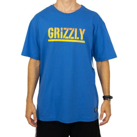 Camiseta Grizzly Stamp Fadeway Royal