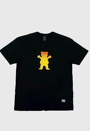 Camiseta Grizzly Og Bear Fadeway Preta Masculina