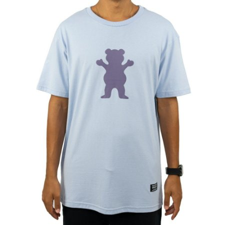 Camiseta Grizzly OG Bear Powder Azul Masculina