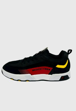 Tênis Dc Shoes Legacy 98 Slim Imp Preto Athletic Vermelho c/ Branco Masculino