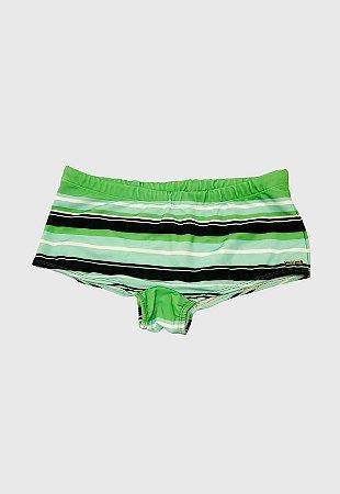 Sunga Sungão Radical Wave Listrada Verde Escuro com Preto Original