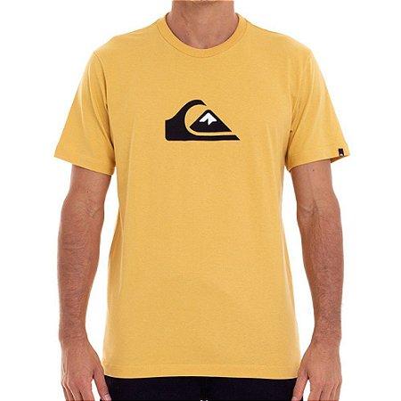 Camiseta Quiksilver Comp Logo Mostarda Masculina