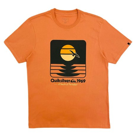 Camiseta Quiksilver Sunset Now Rosa Masculina