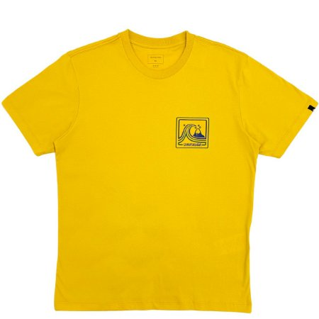 Camiseta Quiksilver Highway Vagabond Mostarda Masculina