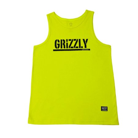 Ragata Grizzly Stamped Tank Safety Green Masculina