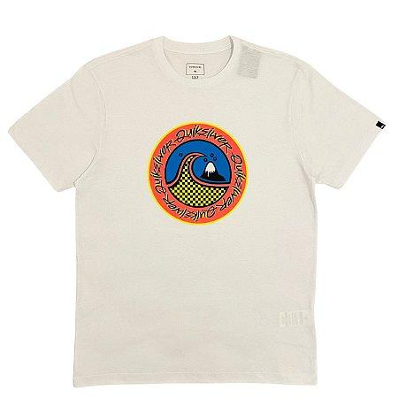 Camiseta Quiksilver Eletric Hoots Branca  Masculina