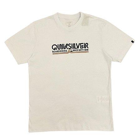 Camiseta Quiksilver Like Gold Branca Masculina
