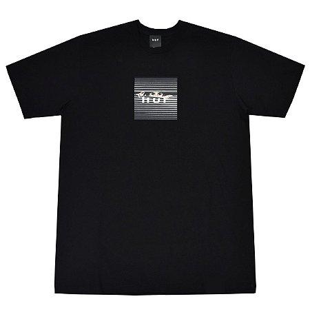 Camiseta HUF Voyeur Box Logo Preta Masculina