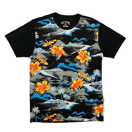Camiseta Billabong Sundays Floral Multi Cores Masculina