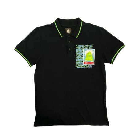 Camiseta Polo Element Pyramid Man Preto Masculina