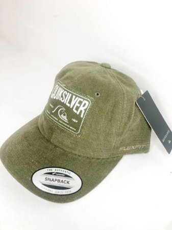 Boné Quiksilver Snap Patch Washed Army Masculino