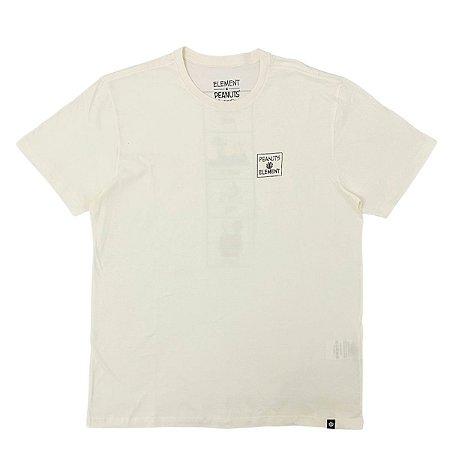 Camiseta Element Peanuts Page Branco Masculina