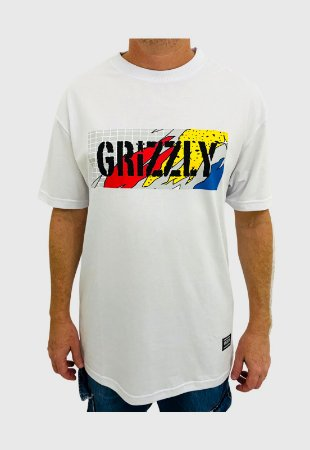Camiseta Grizzly All That Stamp Branca Masculina
