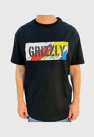 Camiseta Grizzly All That Stamp Preta Masculina