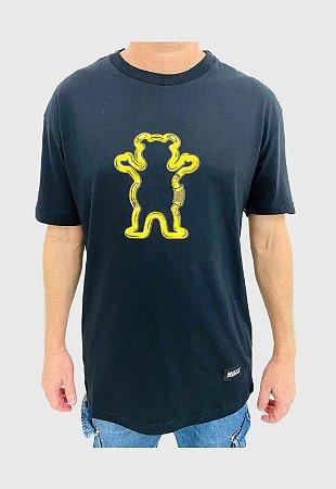 Camiseta Grizzly Carabiner Preta Masculina