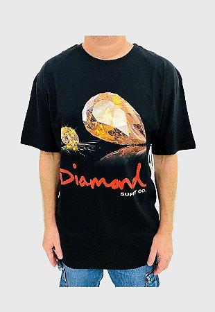 Camiseta Diamond Mirror Preta Masculina