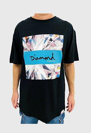 Camiseta Diamond Og Script Box Preta Masculina