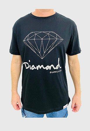 Camiseta Diamond Og Sign Preta Masculina