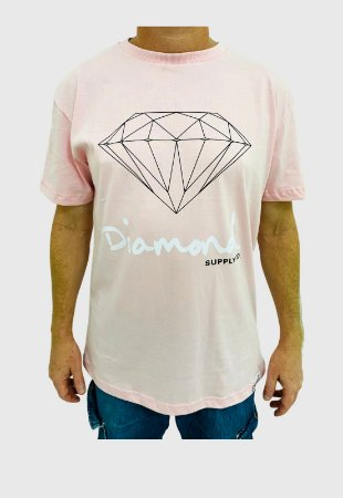 Camiseta Diamond Og Sign Rosa Masculina