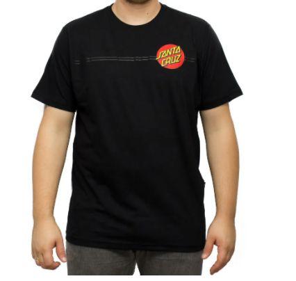 Camiseta Santa Cruz Classic Dot Preta Masculina