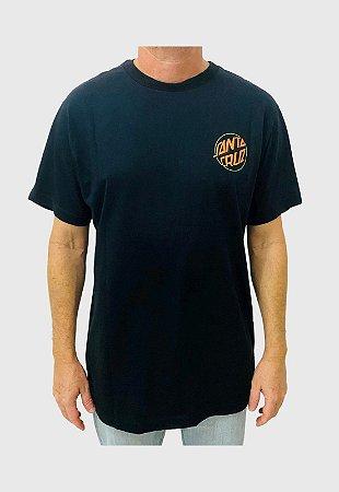 Camiseta Santa Cruz Toxic Hand Preta  Masculina