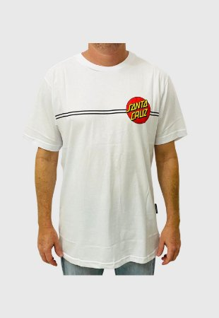 Camiseta Santa Cruz Classic Dot Branca Masculina