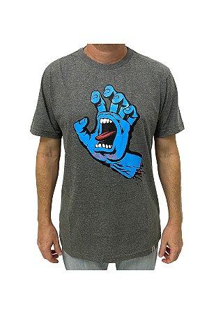 Camiseta Screaming Hand Chumbo Mescla Masculina